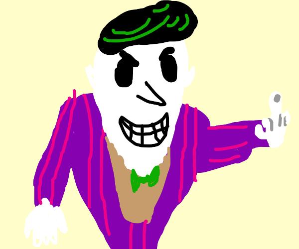 Joker puts up his middle finger