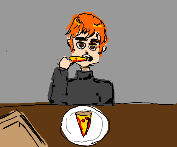 Eating a Pizza