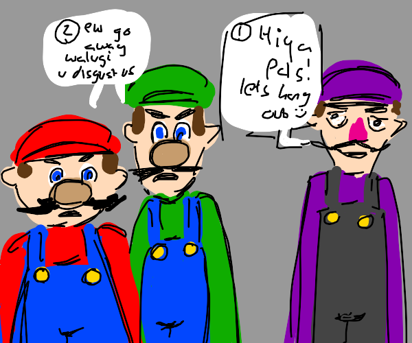 Mario and luigi hate waluigi