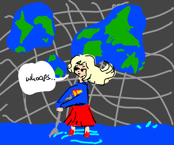 Supergirl alter fabric of reality, digs water