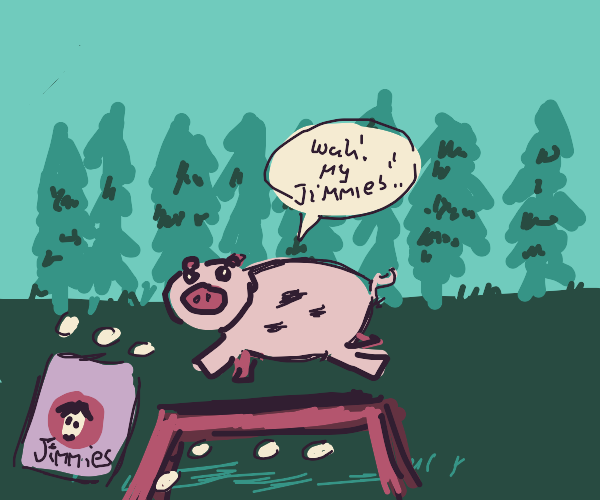 pig dropping jimmies while jumping