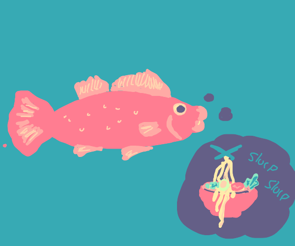 Fish thinking about Ramen
