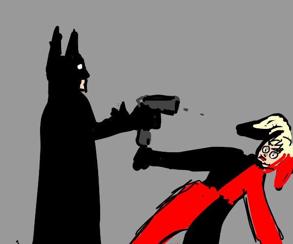 batman shoots harley