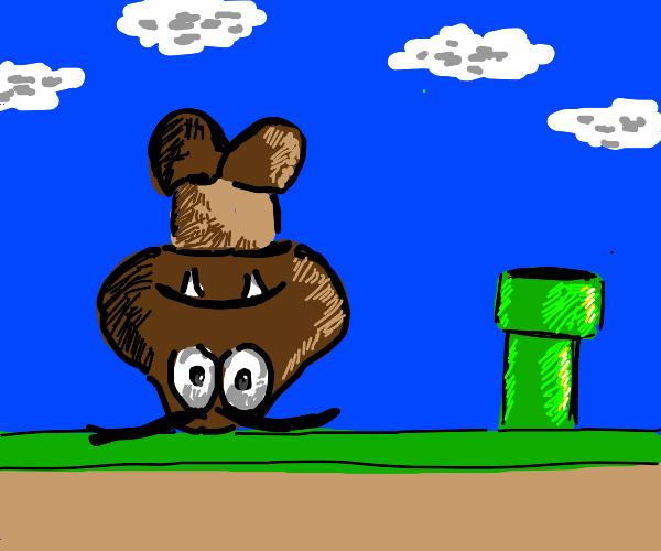 Upside down goomba