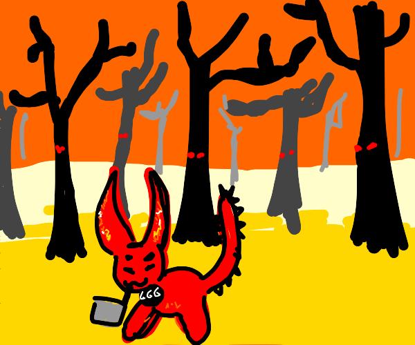 satan's pet fetches the evil firewood