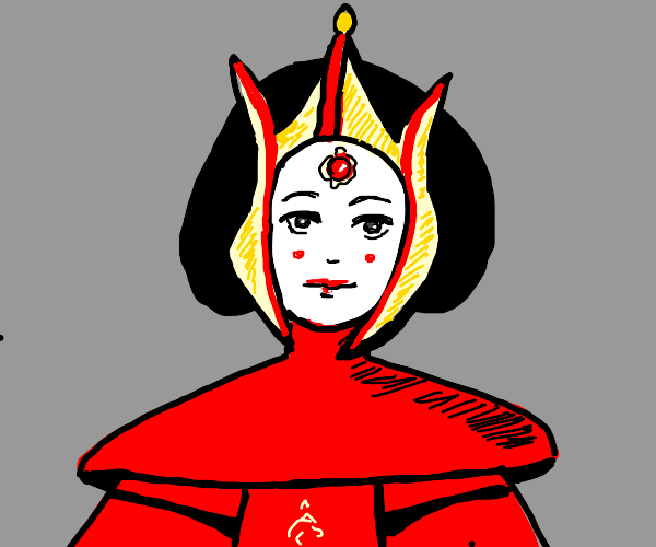 Padme from star wars in her red dress