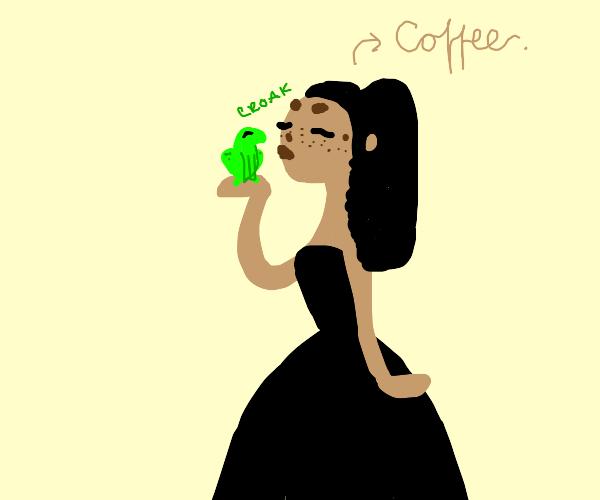 Coffee kissing Egg