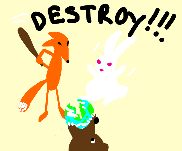 Animals destroy the Planet