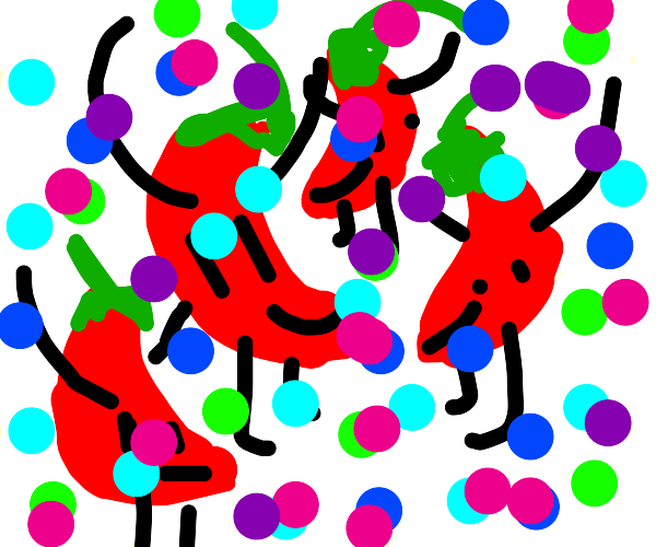 peppers are dancing