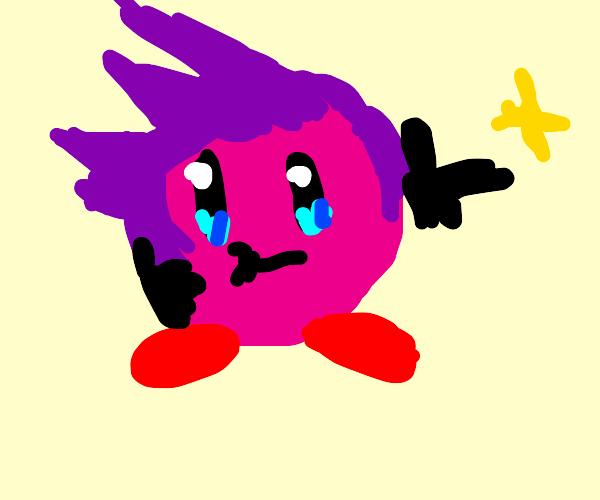 Kirby with spiky  hair
