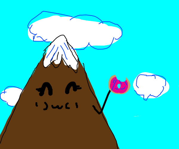Mountain eating donuts