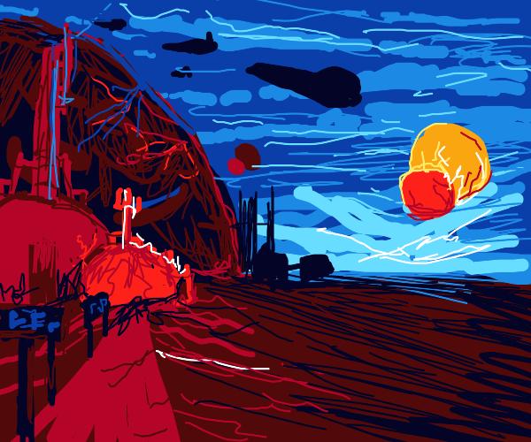 desert alien moon