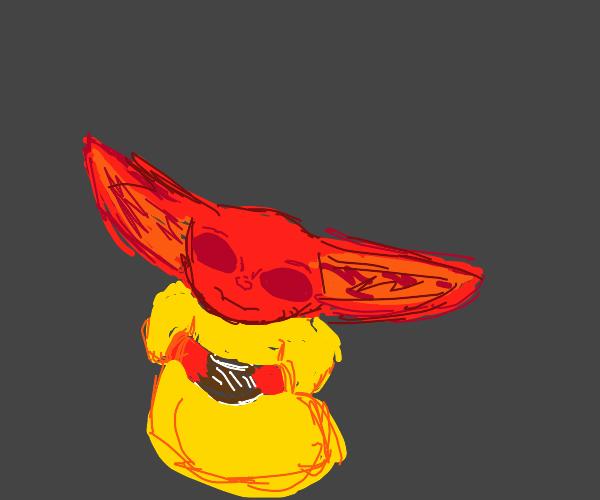 Red baby yoda