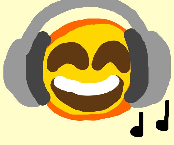 emoji vibing to music