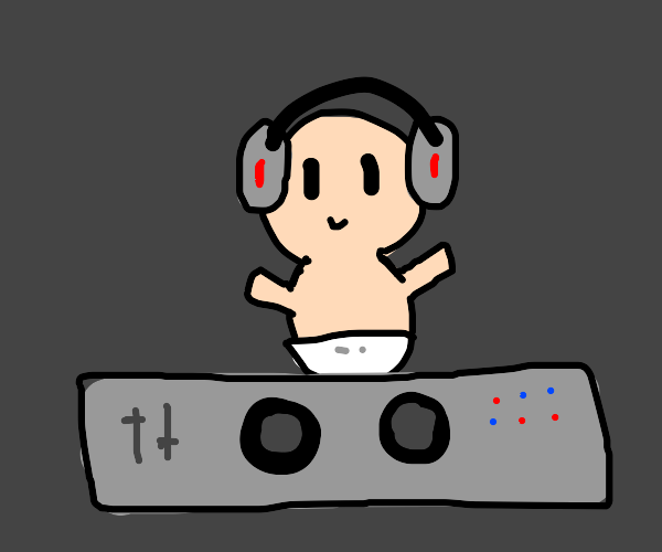 Dj baby with the cyberpunk turn table