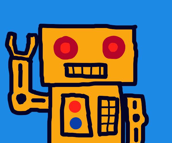 Giant Gold Robot