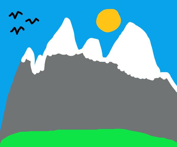 mountain range in the daytime
