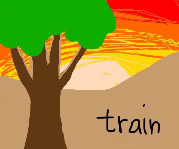 Wood carrying train