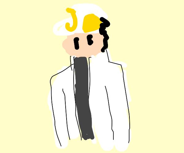 JoJo dressed in white