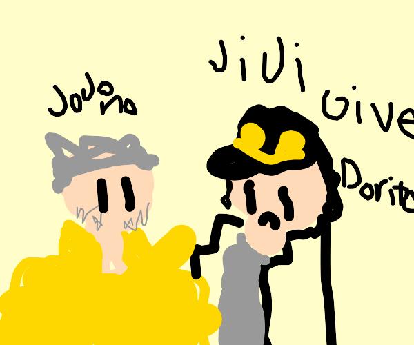 Old Joseph refuses to buy Jotaro some Doritos