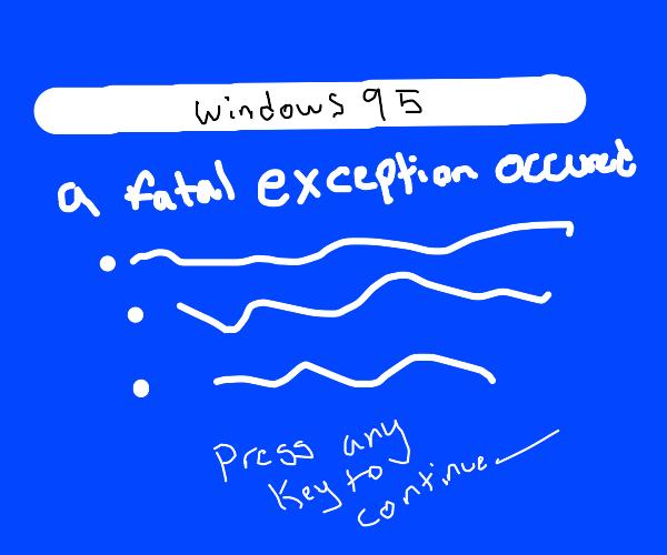 Windows 95 crash screen