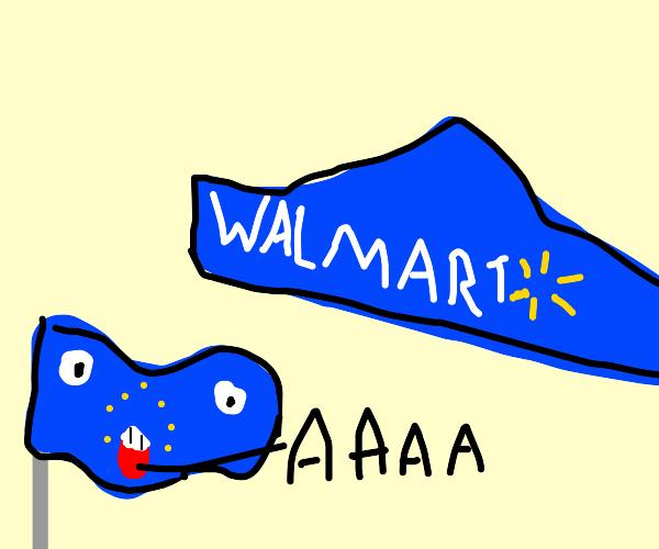 European union (flag)confused of walmart