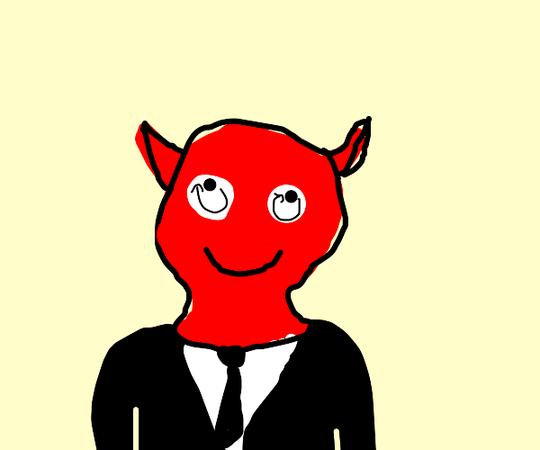 Devil rolling his eyes