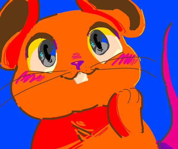 kawaii orange mouse