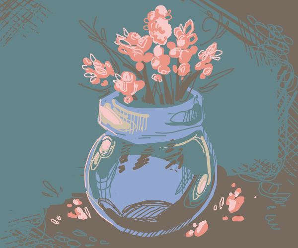 A vase full of flowers