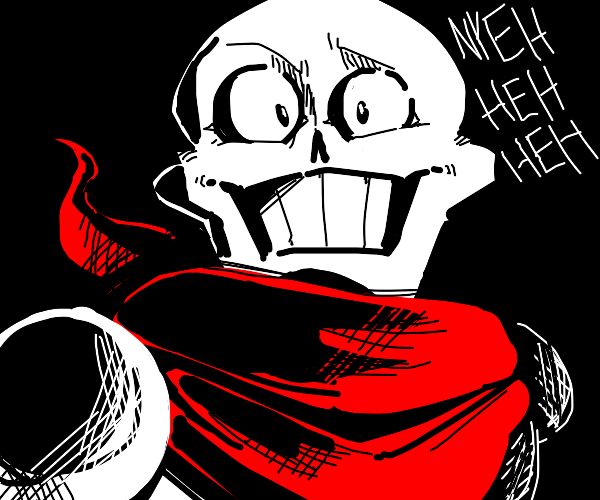 Papyrus with real eyes