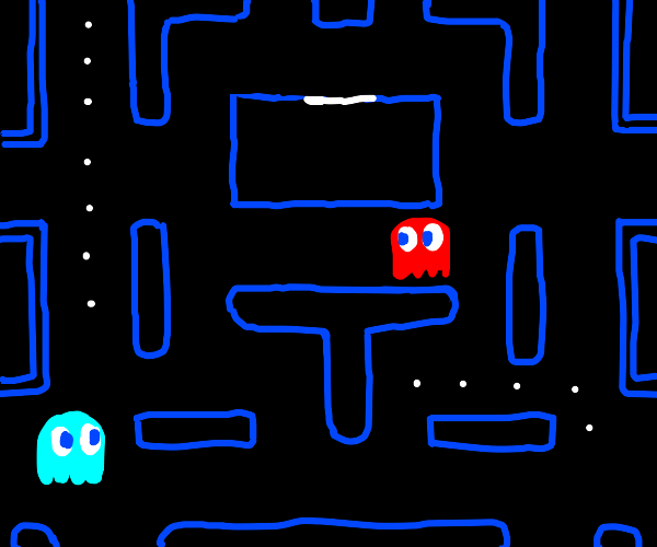 pac man but its all ghosts