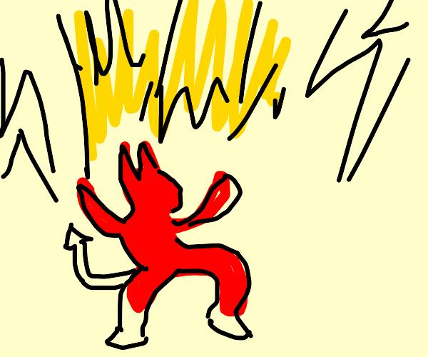 demon releases lightening bolt