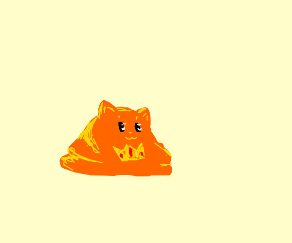 Scp 999 as a cat with a crown