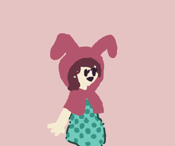Little girl in a bunny costume