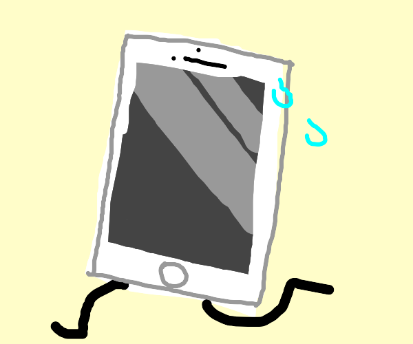 iPhone running with legs
