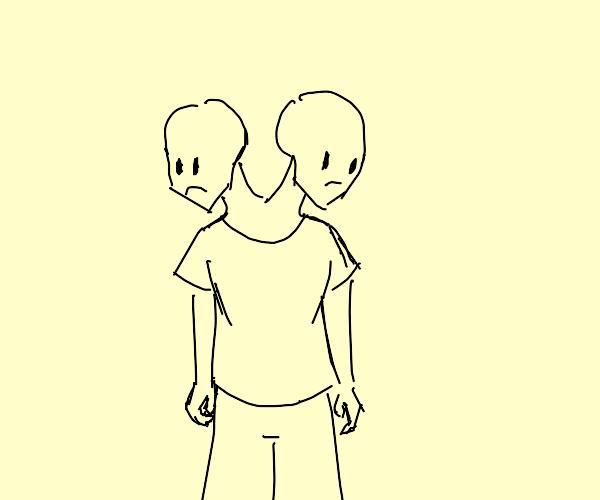 2 headed man