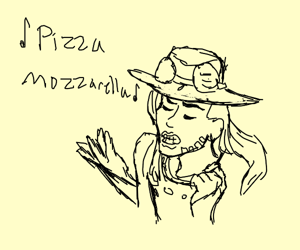 Gyro Zeppeli singing The Cheese Song