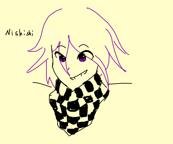 Giggling kokichi probably pranked someone