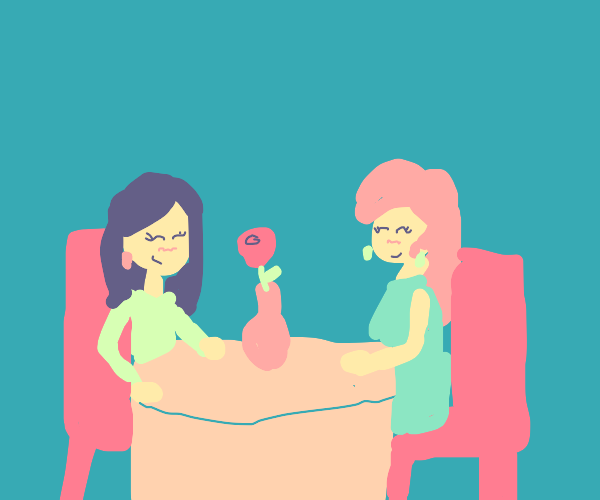 Two females on a date