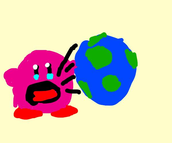 Kirby eats Earth
