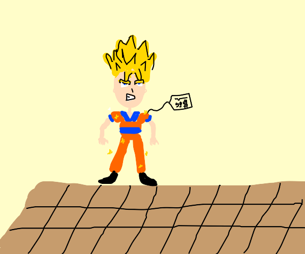 Super Sayain goku in New outfit