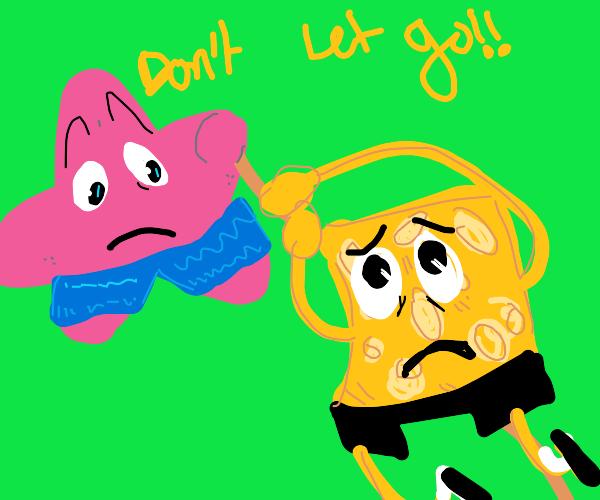 Patrick saves Spongebob's life
