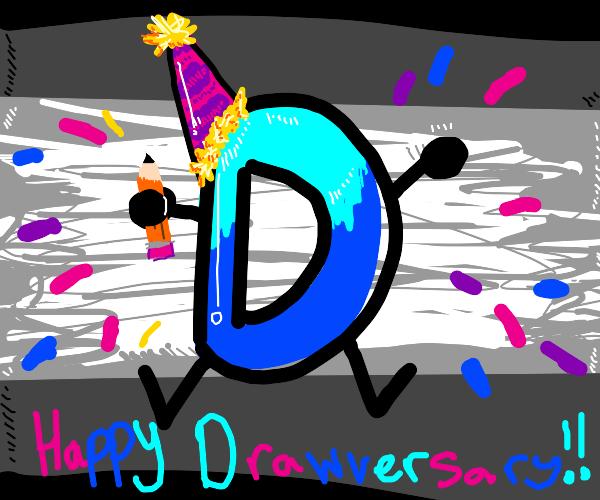 Drawception D wishes you a happy Drawversary