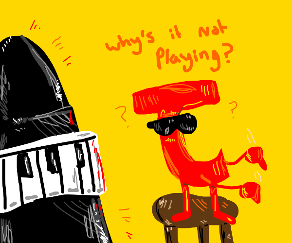 Blind letter J tries to play piano