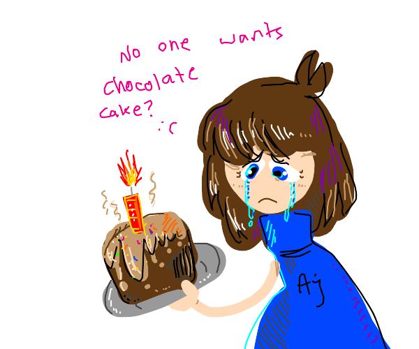Nobody Wants Chocolate Cake :(