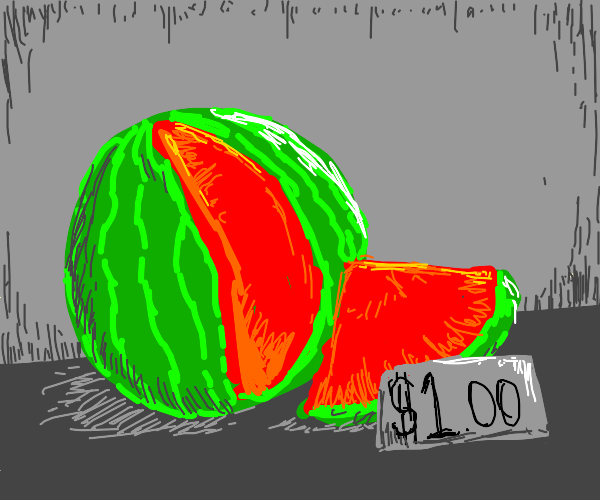 Rindless watermelon $1