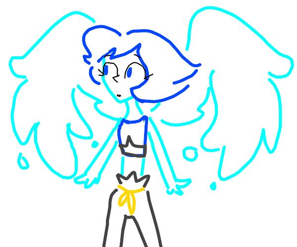 A blue crystal gem girl
