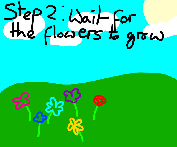 Step 1: Water the Flowers