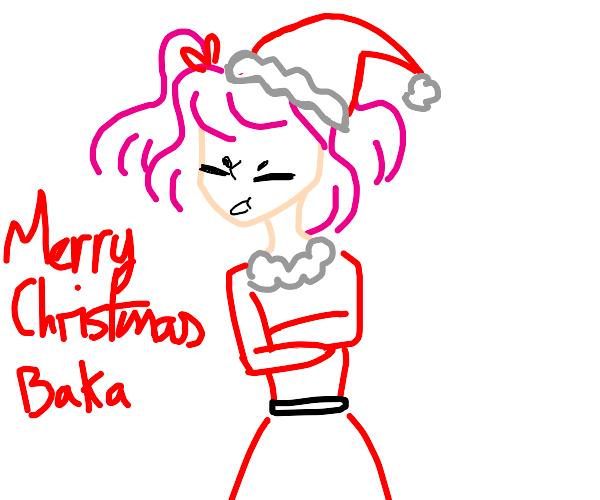 Natsuki Wishes You A Merry Christmas!