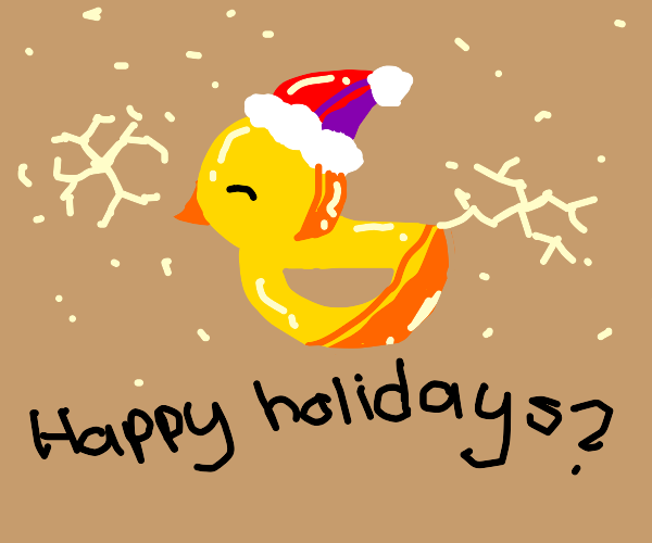 Christmas Duck (drawception)